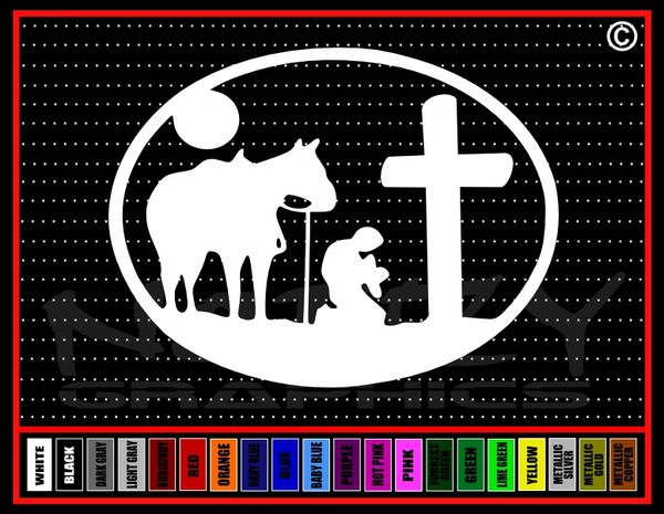 Cowboy Cross #2 Vinyl Decal / Sticker