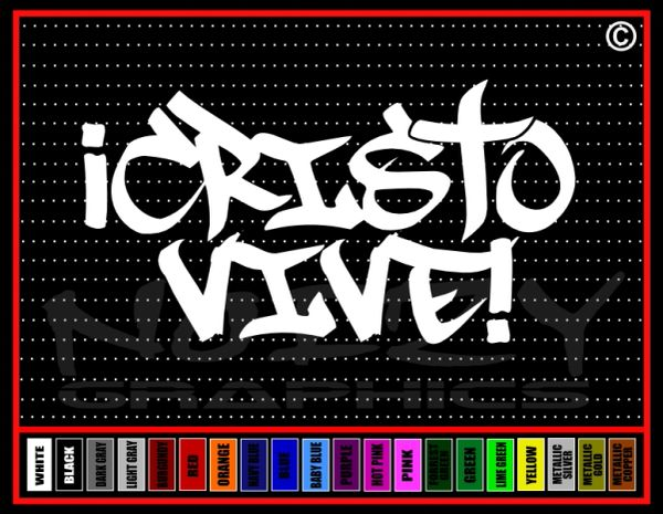 Cristo Vive Cross Vinyl Decal / Sticker