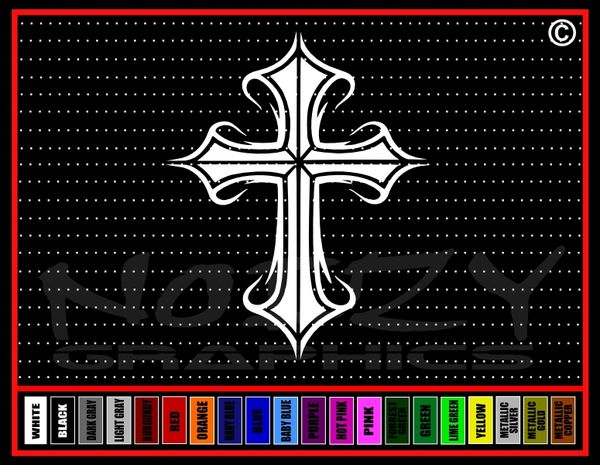 Cross #6 Vinyl Decal / Sticker