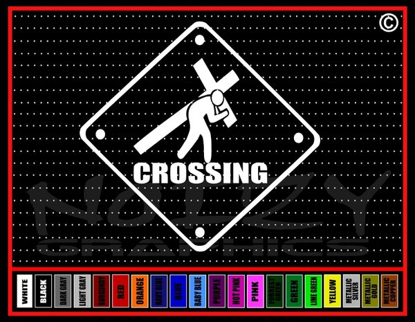 Crossing Sign Vinyl Decal / Sticker