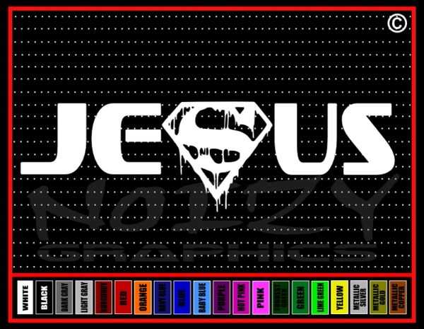 Jesus Superhero #3 Bleeding Vinyl Decal / Sticker