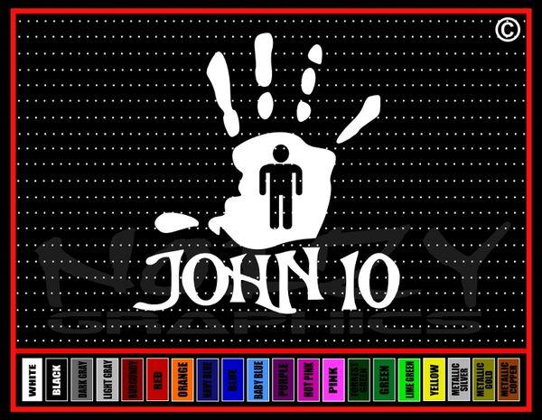 John 10 Unpluckable Vinyl Decal / Sticker