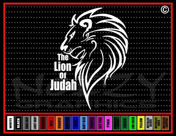 The Lion Of Judah Vinyl Decal / Sticker
