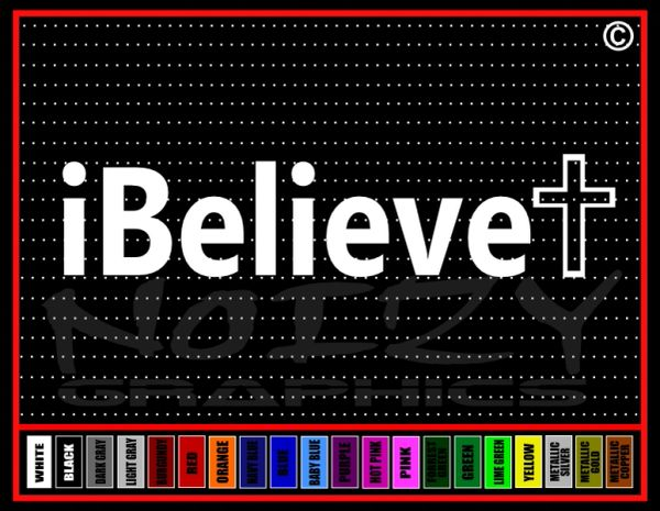 I Believe Cross #3 Vinyl Decal / Sticker