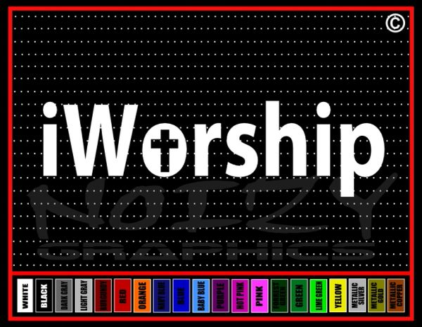 iWorship Alienated Vinyl Decal / Sticker