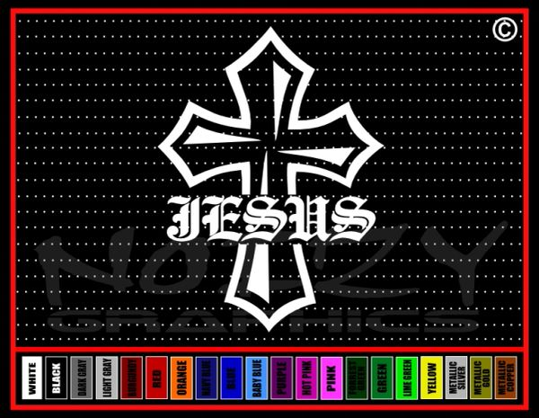 Jesus Cross #1 Vinyl Decal / Sticker