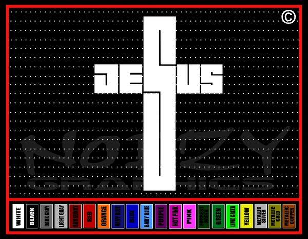 Jesus Cross #2 Vinyl Decal / Sticker