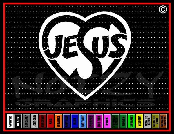 Jesus Heart Vinyl Decal / Sticker
