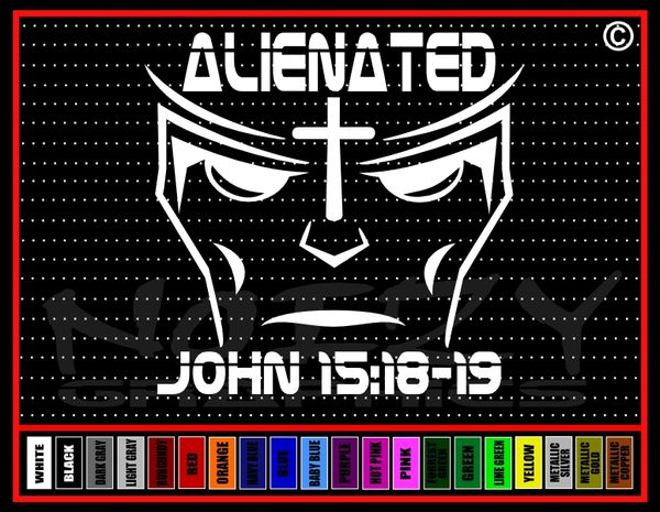 Alienated Vinyl Decal / Sticker