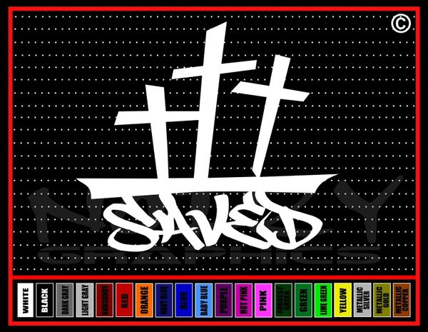 Saved Cross #2 Vinyl Decal / Sticker