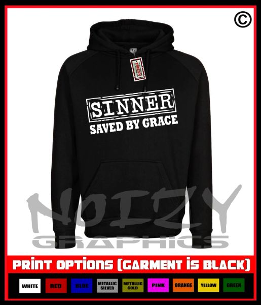Sinner (Stamp) Saved By Grace Hoodie