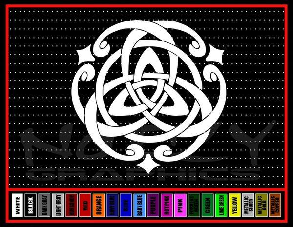Trinity Celtic Knot #1 Vinyl Decal / Sticker