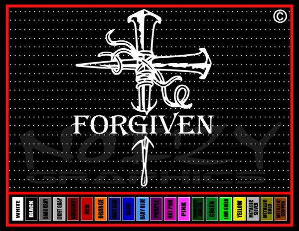 Forgiven Nails Vinyl Decal / Sticker