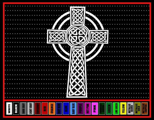 Cross #10 Celtic Vinyl Decal / Sticker