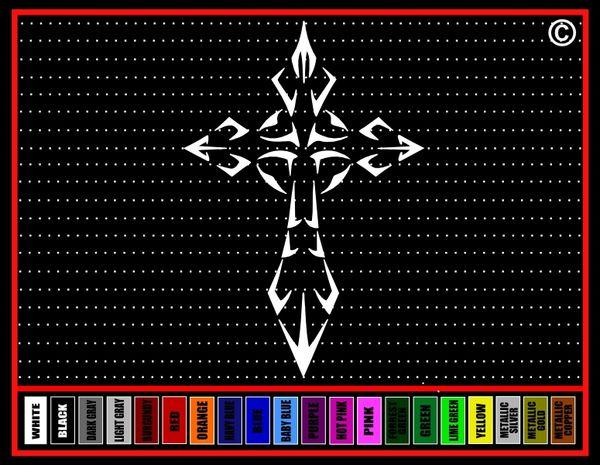 Cross #11 Vinyl Decal / Sticker