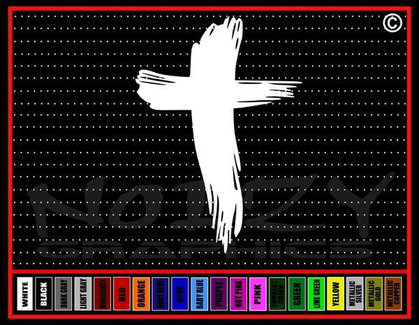 Cross #16 Blood Smear Vinyl Decal / Sticker