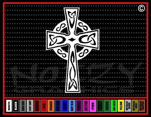 Cross #18 Celtic Vinyl Decal / Sticker