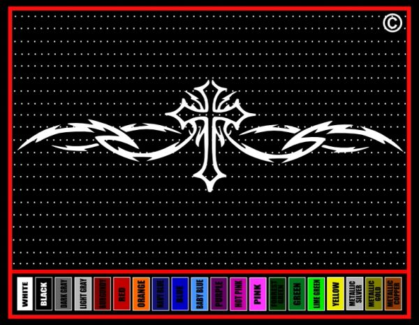 Cross Tribal #2 Vinyl Decal / Sticker