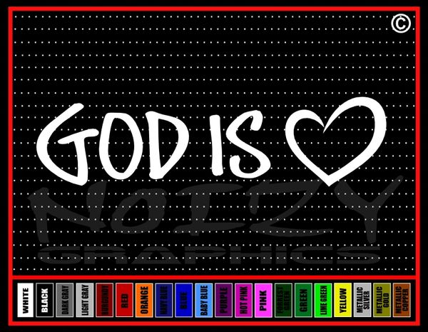 God Is Love #2 Vinyl Decal / Sticker
