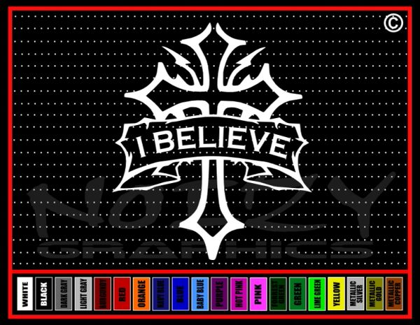 I Believe Cross #1 Vinyl Decal / Sticker