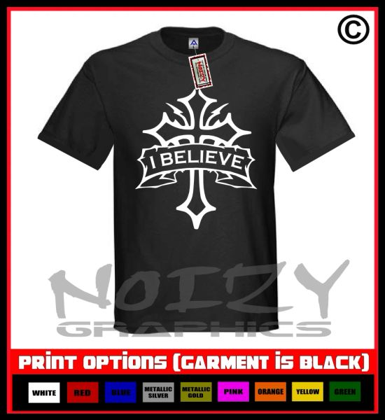 I Believe Cross #1 T-Shirt S-5XL