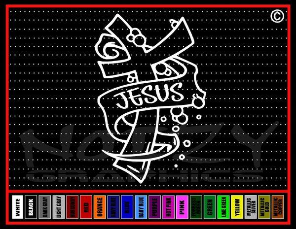 Jesus Cross #3 Vinyl Decal / Sticker