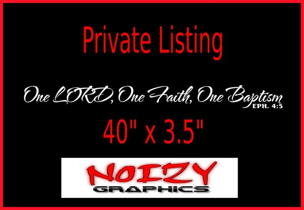 Private Listing - One Lord.. Banner