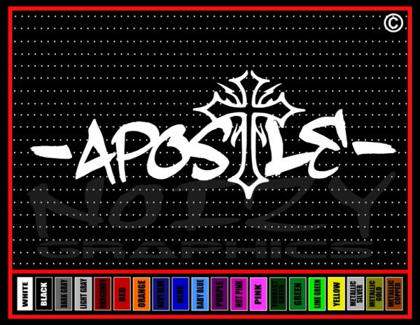 Apostle Cross Vinyl Decal / Sticker