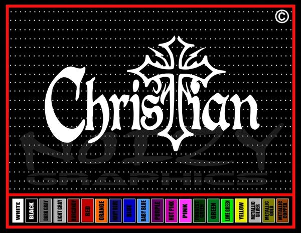 Christian Cross Vinyl Decal / Sticker