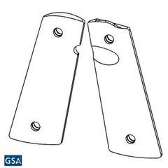 1911 PX-07 Standard Size - Pistol Grips (Non-texture, Semi-Gloss Black)
