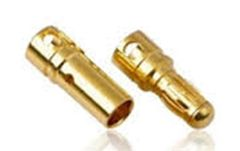 Gold Coated Banana Connector 4mm Bullet Style - 4 pairs