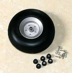 "Rubber Wheels with Aluminum Hubs 3.25"" - pair"
