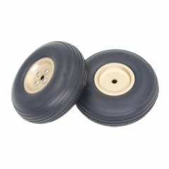 "Rubber Wheels with Aluminum Hubs 3"" - pair"