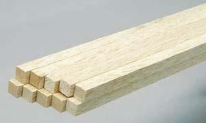 "1/4"" X 36"" BALSA STICKS IN VARIOUS WIDTHS"