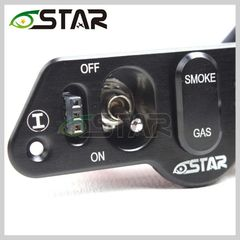 6 Star Aluminum Heavy Duty Dual Power Switch with Dual Fuel Dots and Dual Charge Ports