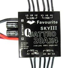 20A Four in One Brushless Multicopter ESC