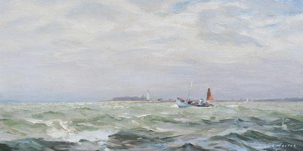 Deryck Foster was a marine artist who worked in Yarmouth on the Isle of Wight