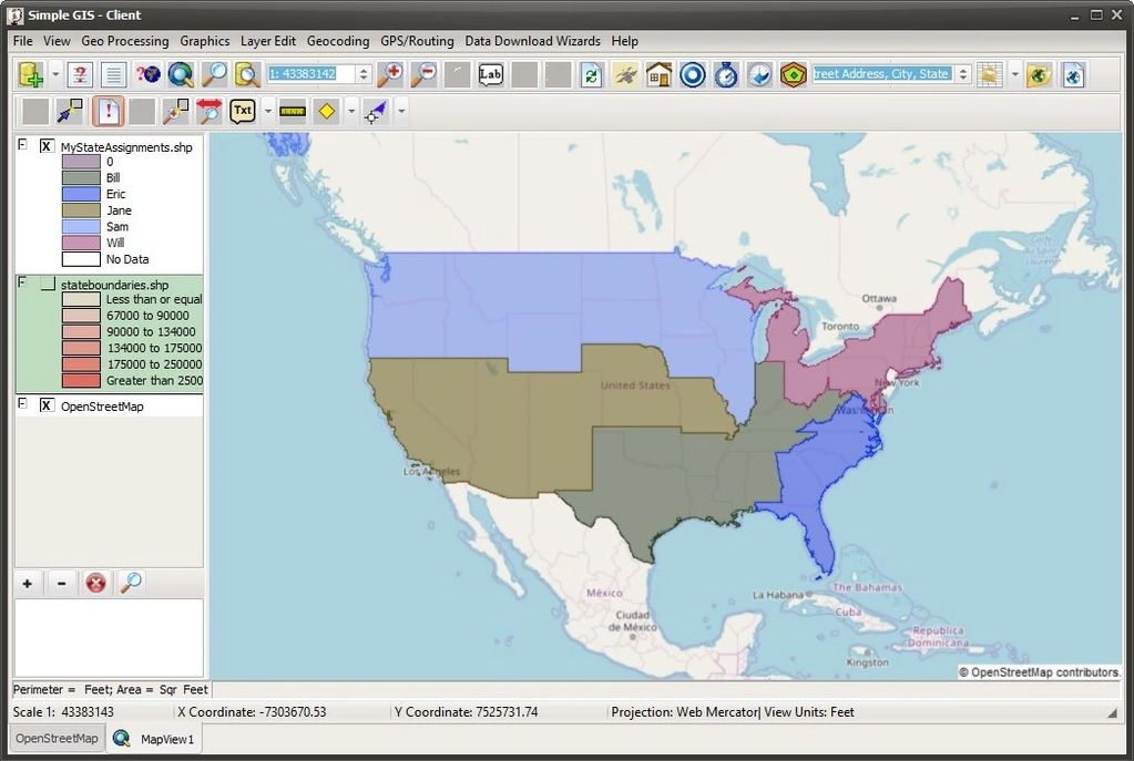 Territory Map in Simple GIS