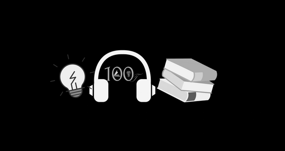 This is the logo for the 100Lit podcast show. Soon to be on Youtube as well.