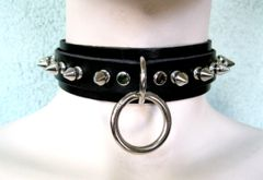 Spiked Bondage Choker 61CS With One O Ring
