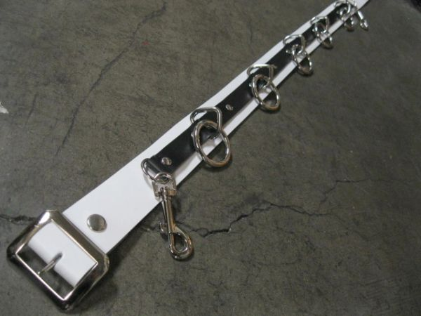 Bondage Belt 36B Black on White