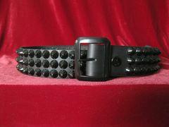 23BCBlack Belt Three Rows of Black Cones