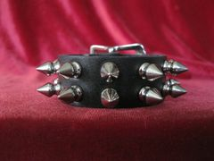 Two Row Spiked Wristband 142