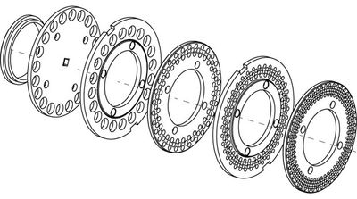 comvair replacement parts, poly seal, rotating plates rings, feed rings, stationary plates rings