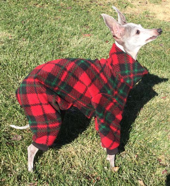 Christmas Plaid Dog Jammies