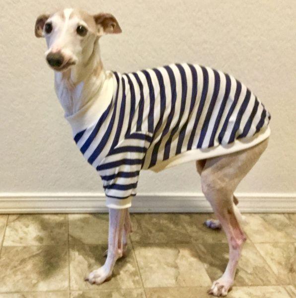 Navy Stripes Dog Shirt