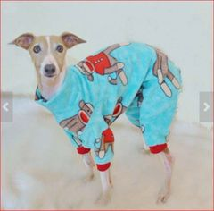 Blue Sock Monkey Jammies