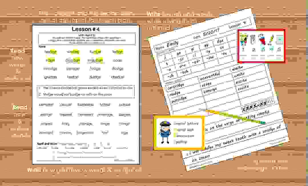 Structured literacy lesson plans. Orton-Gillingham based lesson plans