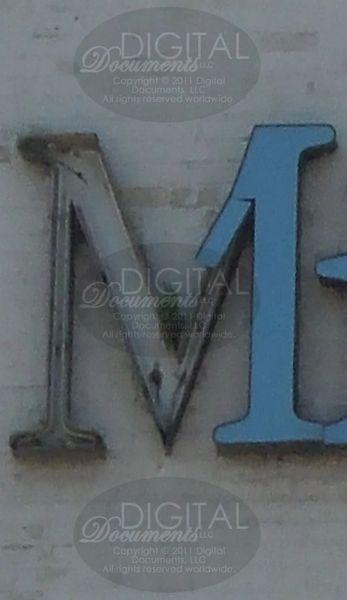 M - Photographic Letter Magnet