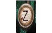 Z - Photographic Letter Magnet